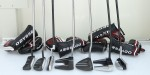The 2014 Odyssey Tank Cruiser (Left four, and reviewed below) and Metal X-Milled putter lines.