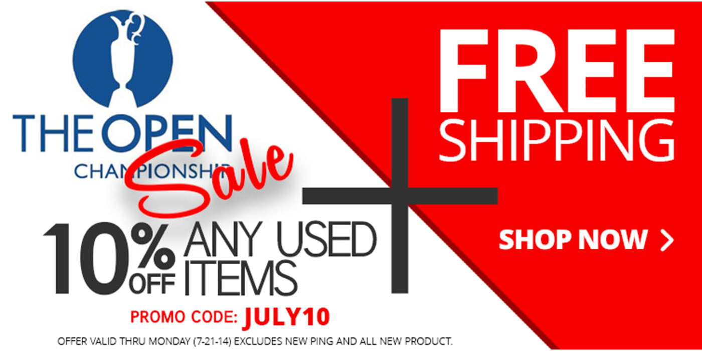 The Open Championship Sale 10% OFF & FREE SHIPPING at 2nd Swing Golf